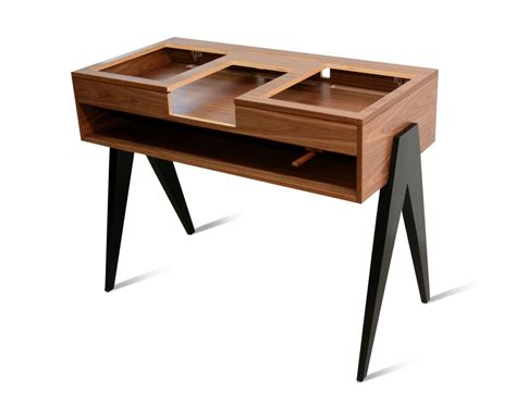 wooden dj table the dj stand atocha design