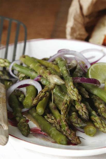 Sauce Vinaigrette Roquefort Salade Vertes Asperges Preparation