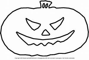 Halloween Kürbis Schablone : schablone f r einen k rbiskopf 3 medienwerkstatt wissen ~ Lizthompson.info Haus und Dekorationen