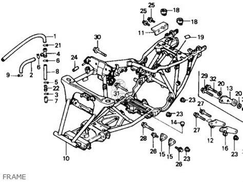 honda trx fourtrax    usa parts list partsmanual partsfiche