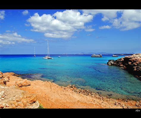Elevation Of Formentera Balearic Islands Spain