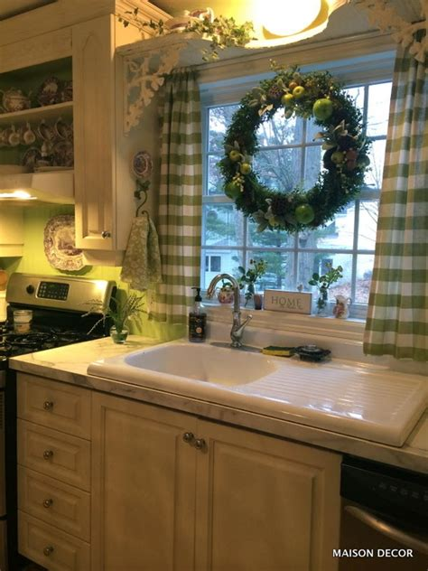 maison decor  kitchen update  apple green paint