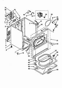 Kenmore Electric Dryer Cabinet Parts