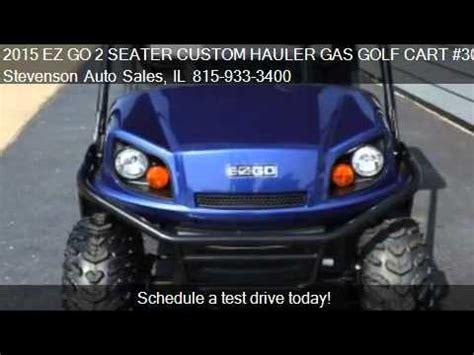 ez   seater custom hauler gas golf cart