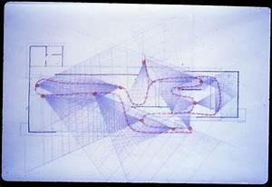 Barcelona Pavilion study drawings by Paul Rudolph ...