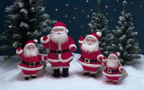 christmas decorations snow tree santa claus wallpaper