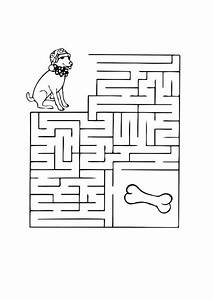 coloring page dog maze i