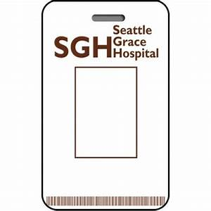seattle grace hospital id card custom from the identity With dr name tag template