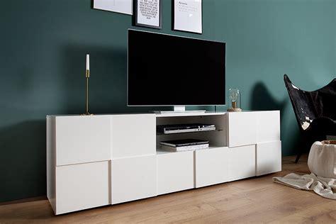 Tv Board Modern by Modernes Tv Board Relief 180cm Wei 223 Hochglanz Riess