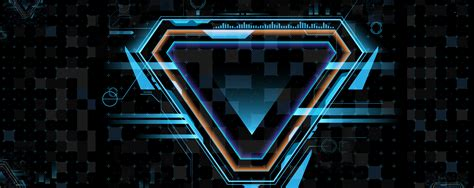 technology future geometry triangle blue banner blue
