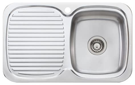 bunnings kitchen sinks lakeland single bowl inset sink with drainer 1872