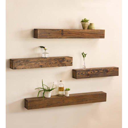 rustic wooden shelf wood floating shelves walmartcom