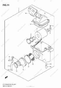 Suzuki Atv 2005 Oem Parts Diagram For Air Cleaner