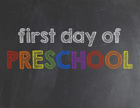 first day of preschool printable back to school prep printables 616