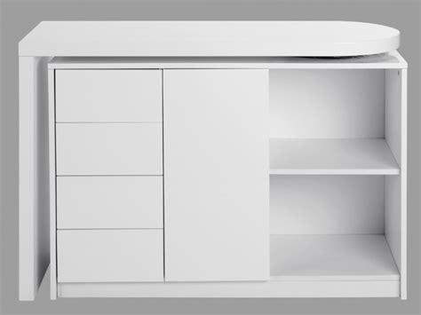 bureau à partager bureau extensible pavel 4 tiroirs 1 porte laqué blanc