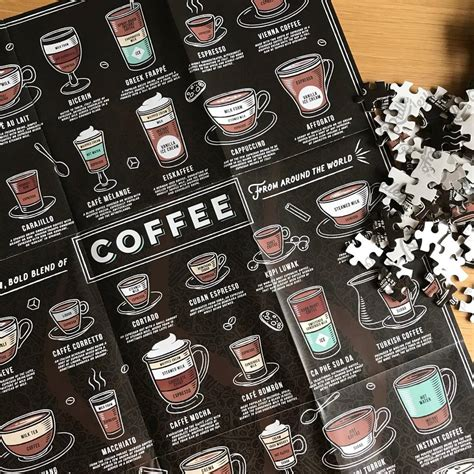 Puzzle with your own images. Coffee Lovers Jigsaw Puzzle By Nest | notonthehighstreet.com