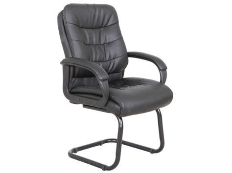 chaise visiteur chaise visiteur avec accoudoirs flint simili noir