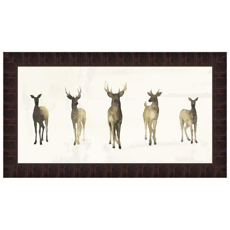 Deer Herd I Framed Print