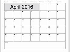 4 Week Calendar Blank Calendar Template 2018