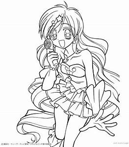 Anime Anime Girl Mermaid Colouring Pages - Coloring Home