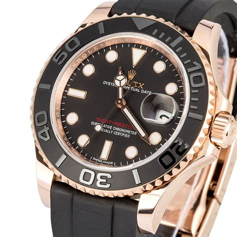 Yacht Master Rubber by Rolex Everose Yachtmaster 116655 Rubber
