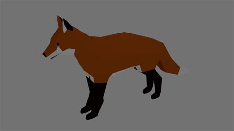 wallpaper fox low poly 3d low poly fox 3d asset cgtrader Wallp