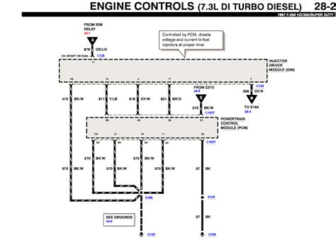 99 Ford F 350 Wiring Diagram by Need Wiring Diagram From Fuel Injector Banks To Battery