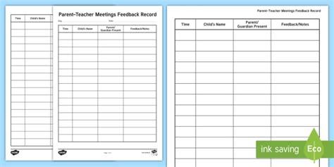 parent teacher meetings feedback record teacher