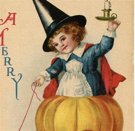 vintage sweet halloween witch image darling