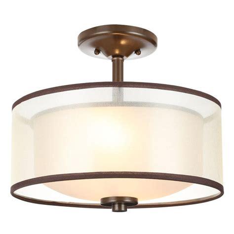 bronze flush ceiling light hton bay 2 light bronze semi flush mount light with