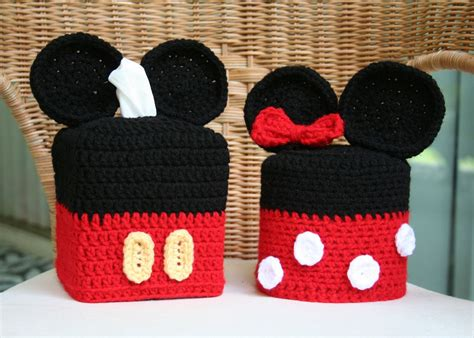 Mickey And Minnie Mouse Tissue Box Toilet Paper Covers