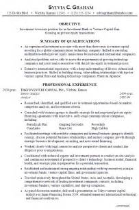 Technology Resume Template Resume Investment Associate Venture Capital Susan Resumes