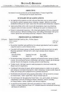 Resume Investment Associate Venture Capital Susan