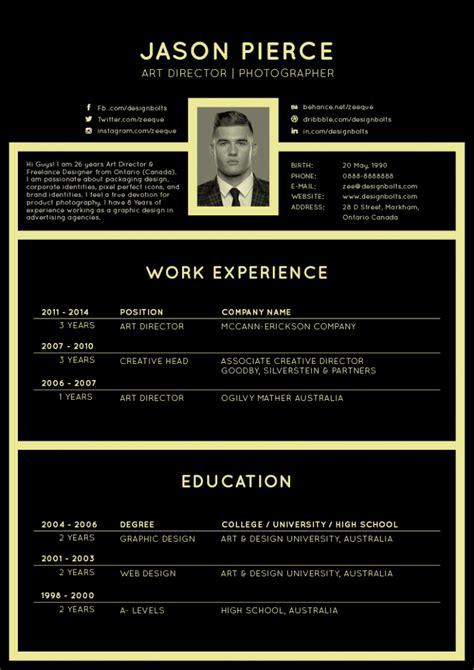 Cv Template Design Free by Free Black Resume Cv Design Template Resume Ai