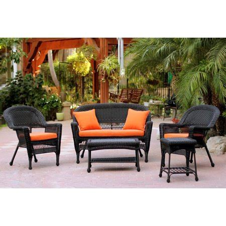 Resin Patio Furniture by 5 Black Resin Wicker Patio Chair Loveseat Table