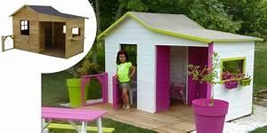 Maison En Bois Enfant : maison enfant avec bac a sable cabanes abri jardin ~ Nature-et-papiers.com Idées de Décoration