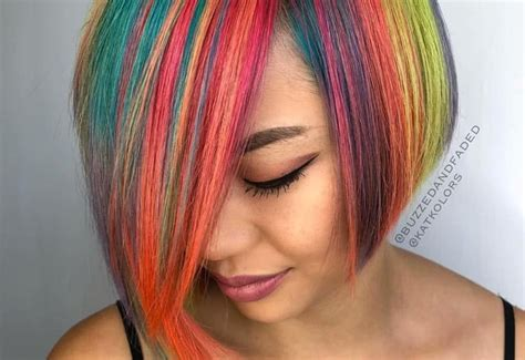 Colors That Go With Hair by 28 Colorful Rainbow Hair Ideas Trending In 2019
