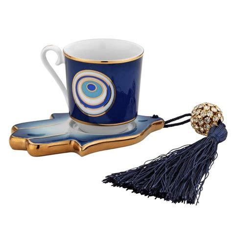 kilim pillows evil eye and hamsa designed porcelain coffee