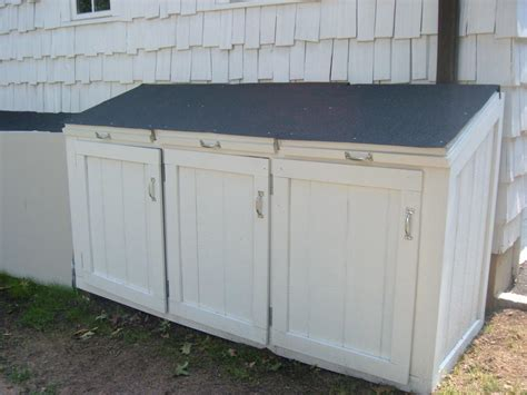 White Garbage Shed by Simple Outdoor With Garbage Can Storage Shed Large White