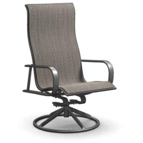 homecrest kashton sling swivel rocker patio dining chair