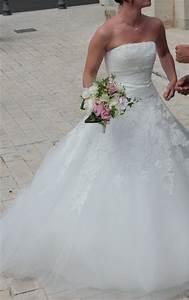robe de mariee couleur ivoire de createur espagnol white With robe createur francais