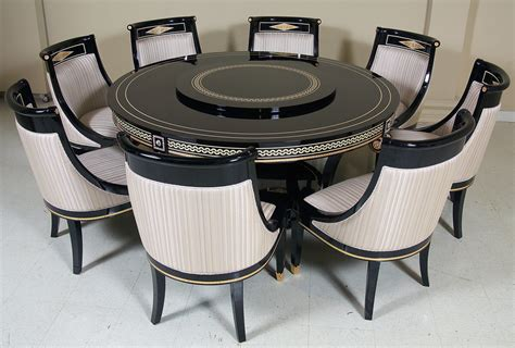 how many chairs fit around a 60 round table new style empire dining room furniture set with swarovsky