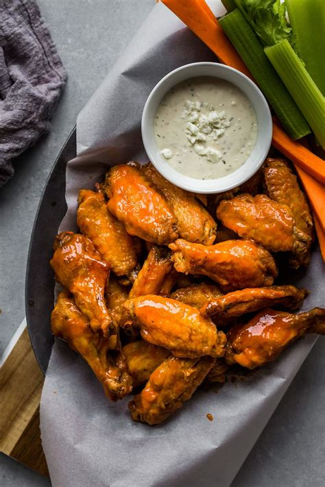 fryer wings chicken air buffalo sauce recipes recipe cook crispy dinner wing frying platter spicy healthy dish mild platingsandpairings without