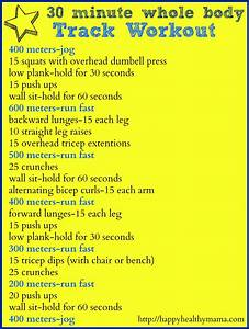 Fitness Friday  30 Minute Whole Body Track Workout