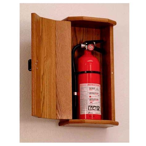 wooden mallet fire extinguisher cabinet  engraved