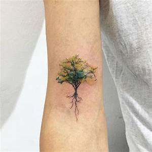 Watercolor Tree Tattoo Designs, Ideas and Meaning ...