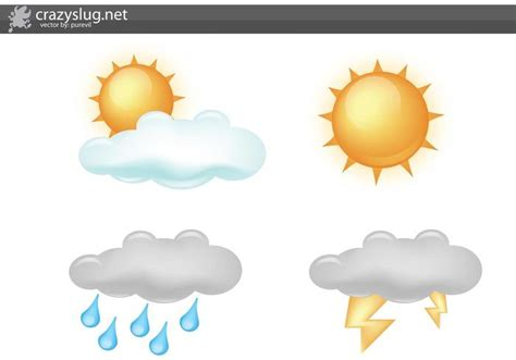 Free Weather Icon Vectors