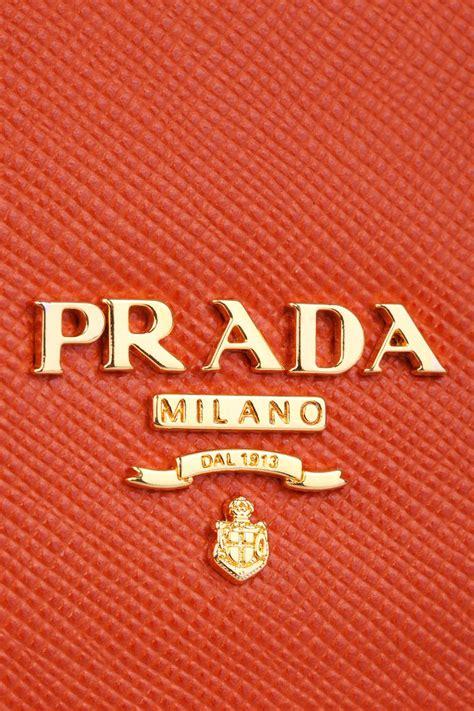 prada orange bag logo detail fashion logo branding iphone art logo wall