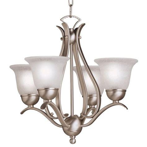 single chandelier kichler 2019ni brushed nickel dover 4 light 18 quot wide