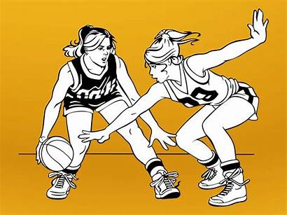 Basketball Clipart Cartoon Vector Playing Player Cliparts